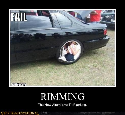 car hilarious Planking rimming wheel wtf