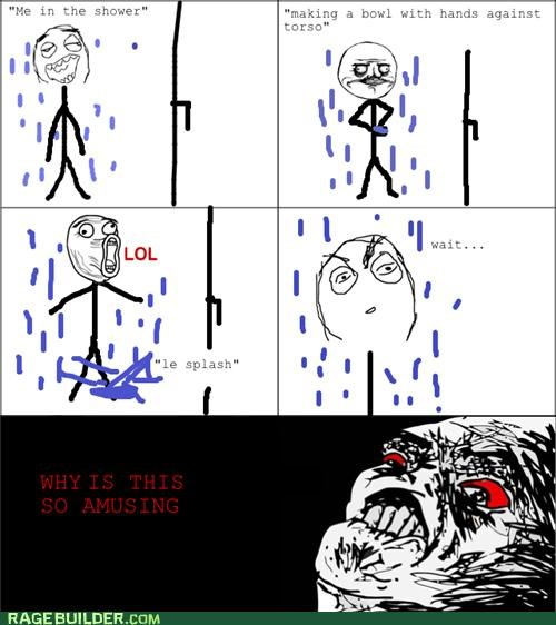 amusing lol Rage Comics shower water - 4963048960