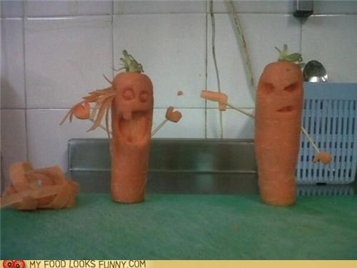 art,carrots,carved,head,murder,shoot