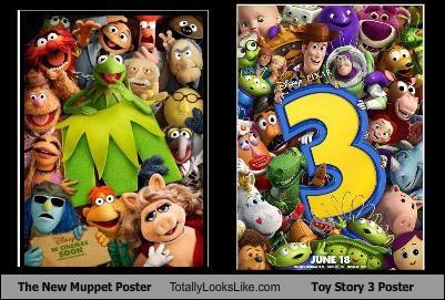 buzz lightyear gonzo Jim Hensen kermit miss piggy muppets toy story woody - 4963177216