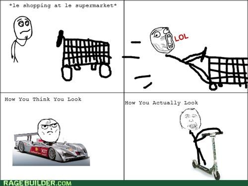 lol Rage Comics shopping cart supermarket - 4963204096