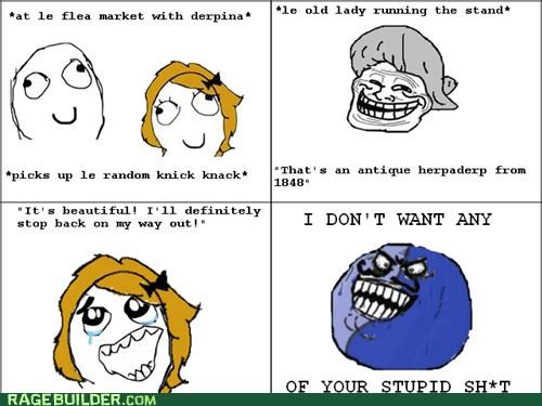 antique flea market i lied Rage Comics - 4963257856
