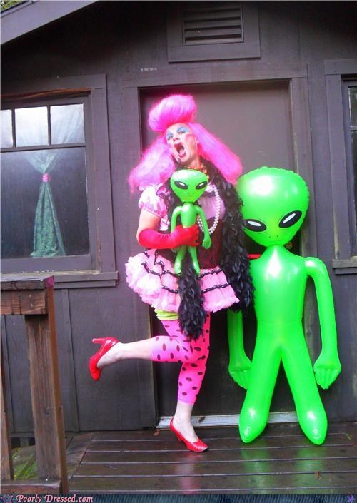 alien,pink,tutu,wig