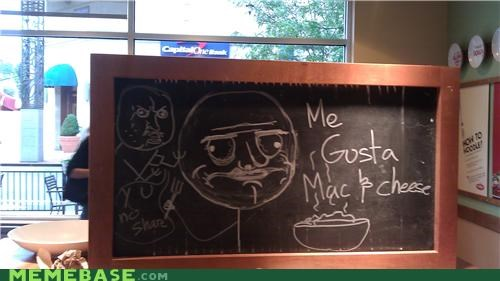 chalk,IRL,mac and cheese,me gusta,noodles,restaurant
