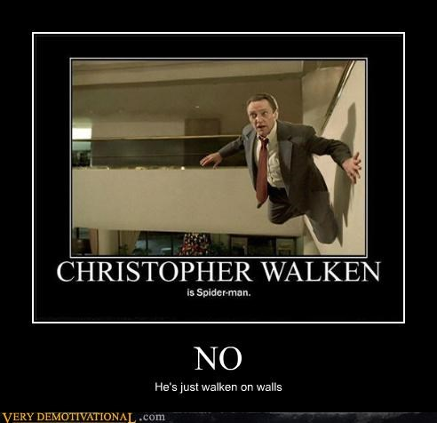 christopher walken,Pure Awesome,Spider-Man,walls