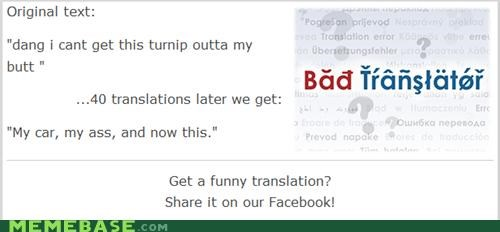 Bad Translator car turnip weird wtf - 4963574272