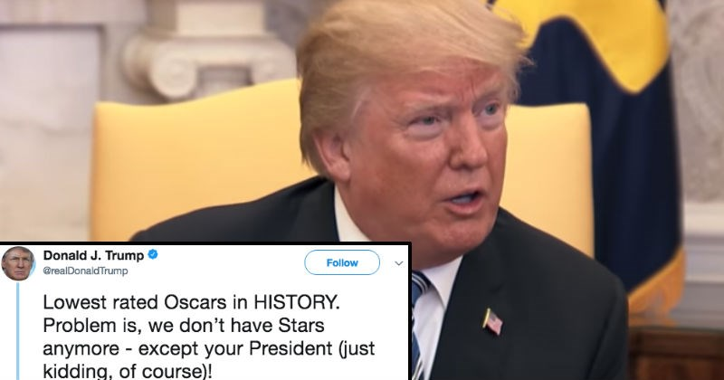 donald trump tweets about the oscars