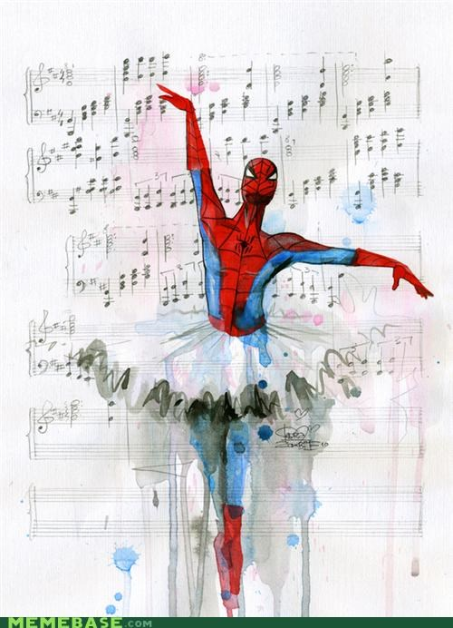 Awesome Art,ballerina,Music,pretty,Spider-Man