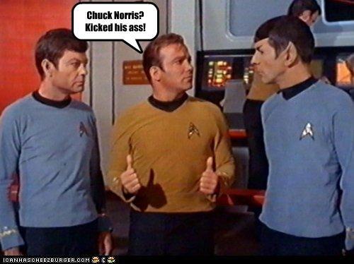 actor celeb DeForest Kelley funny Leonard Nimoy sci fi Star Trek TV William Shatner - 4963710976