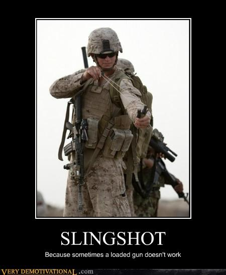hilarious loaded gun military slingshot wtf