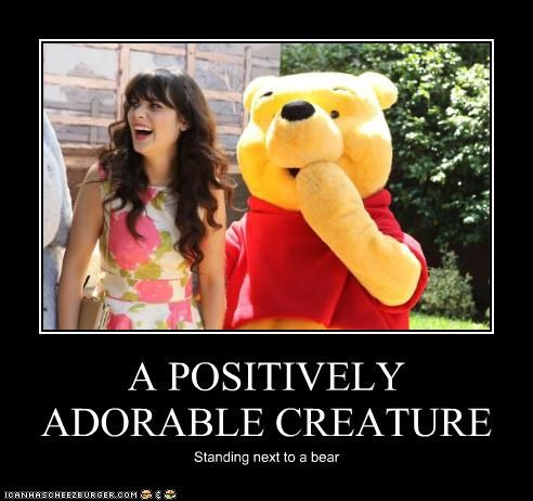 actor celeb demotivational funny zooey deschanel - 4963756288