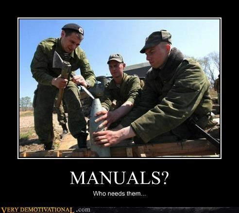 bad idea,hilarious,manual,military,wtf