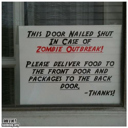 delivery,sign,zombie,zombir prepardness