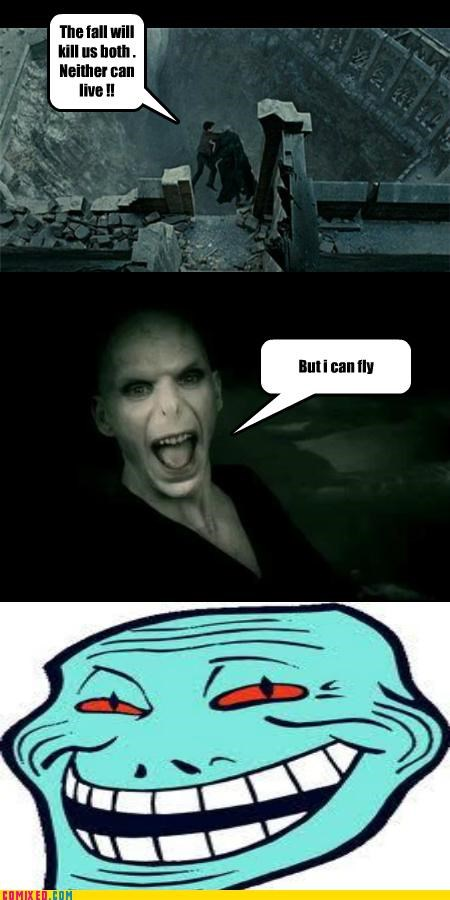 deathly hallows Harry Potter rage troll voldemort - 4965154560