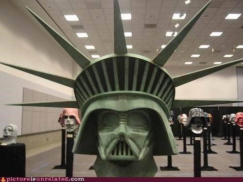 darth vader,star wars,Statue of Liberty,wtf