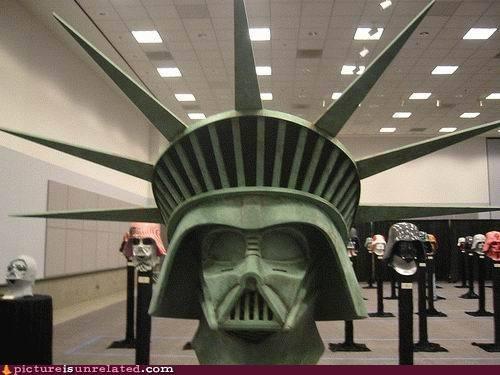 darth vader star wars Statue of Liberty wtf - 4965544704