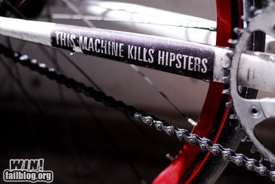 bicycles clever hipsters stickers - 4965700096