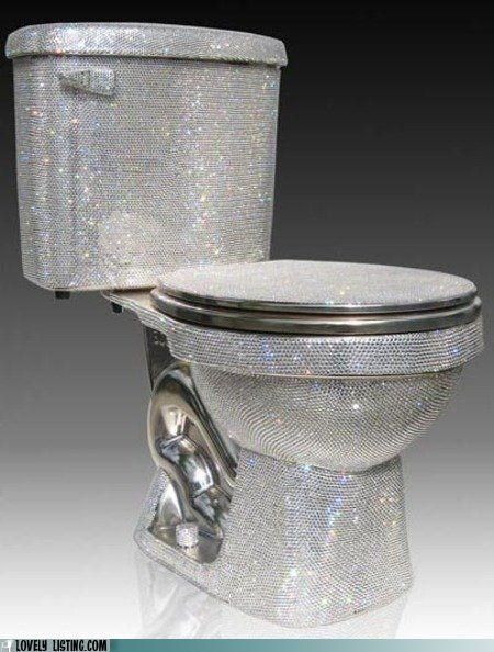 Bling sparkly toilet - 4965757184