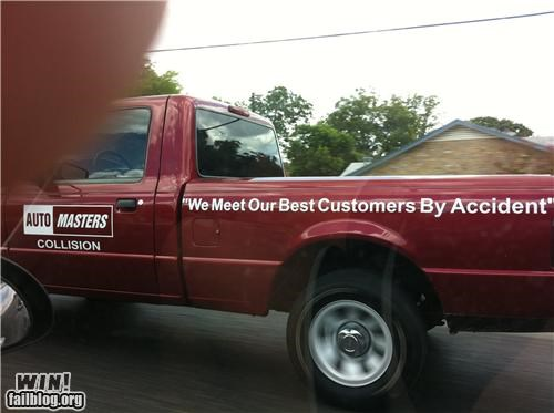 accidents collision repair slogan trucks