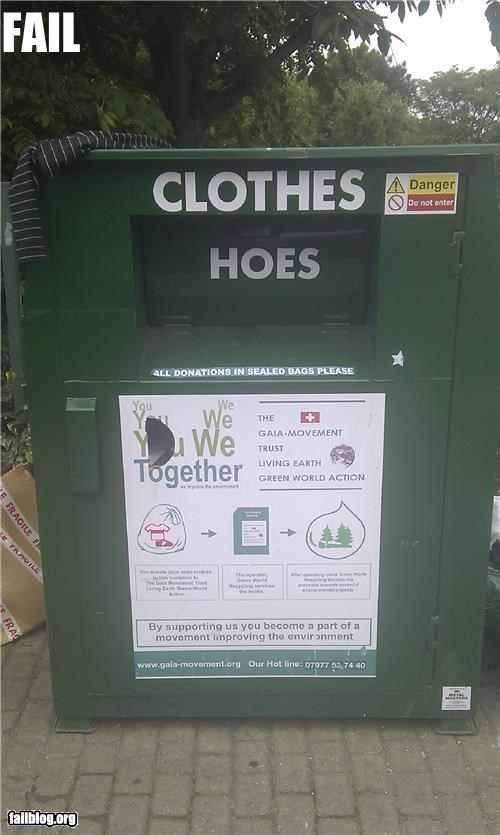 oddly specific: cloths and h**s