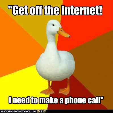 56k call computers fax internet phone Technologically Impaired Duck - 4966116608