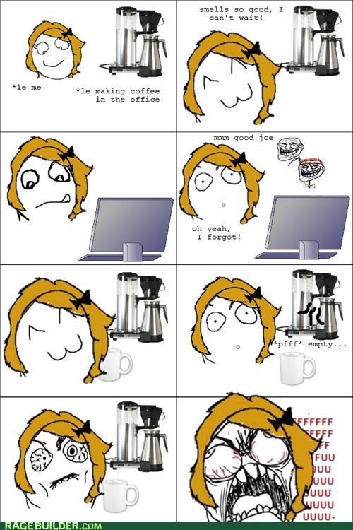 coffee,FAIL,fu gal,Rage Comics,work