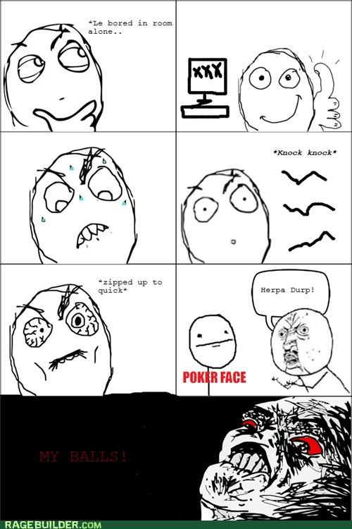 faptimes ouch poker face Rage Comics Y U No Guy zipper