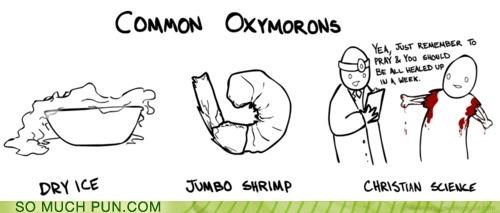 christian science common contradiction dry ice Hall of Fame jumbo shrimp oxymoron oxymorons suggestions - 4966181888