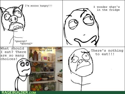 eating fridge hungry Rage Comics - 4966221056