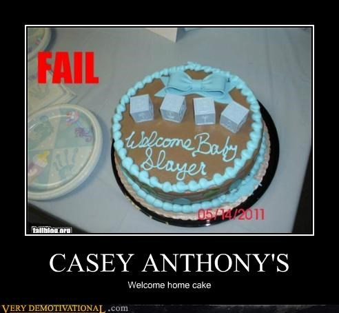 CASEY ANTHONY'S Welcome home cake