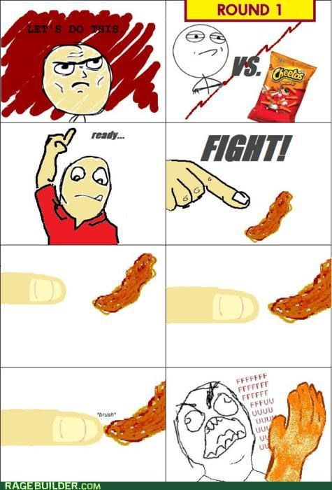 cheese cheese fingers cheetos fingers fu guy Rage Comics - 4966375680
