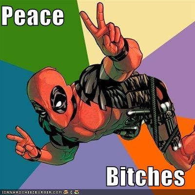 deadpool,peace,Super-Lols,wtf