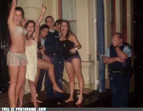 cops drunk girls Jägerbombed Party police - 4966501376