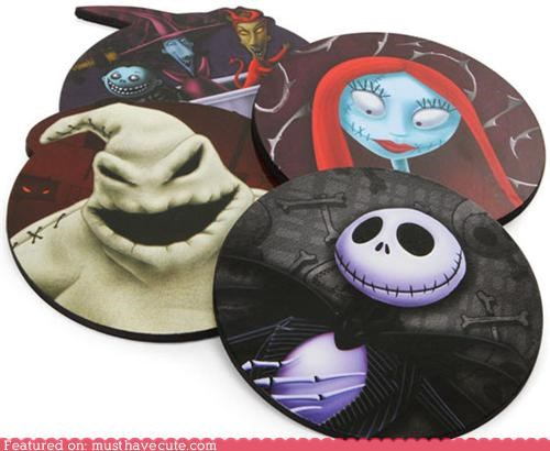 accessories,characters,computer,mousepad,nightmare before christma