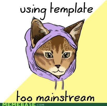 drawing font Hipster Kitty template that darn cat - 4966520320