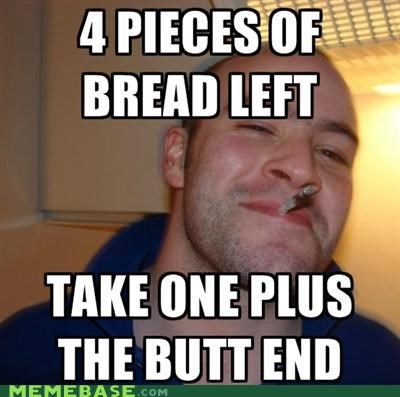 bread butt food Good Guy Greg heel loaf - 4966698496