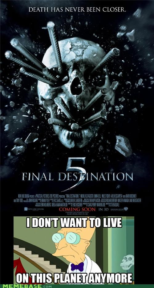 5 Death Final Destination fry futurama movies planet - 4966764544