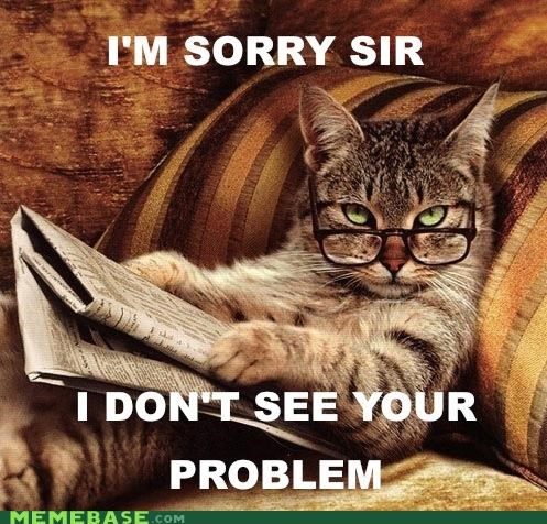 Smart-Ass Cat: I don't see your problem