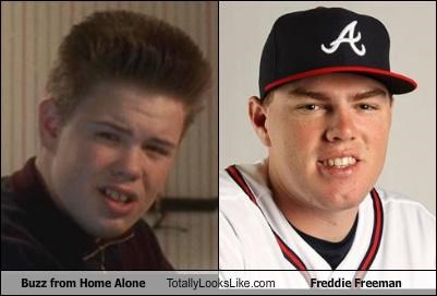 athletes,Atlanta Braves,baseball,buzz,Freddie Freeman,Home Alone,movie characters