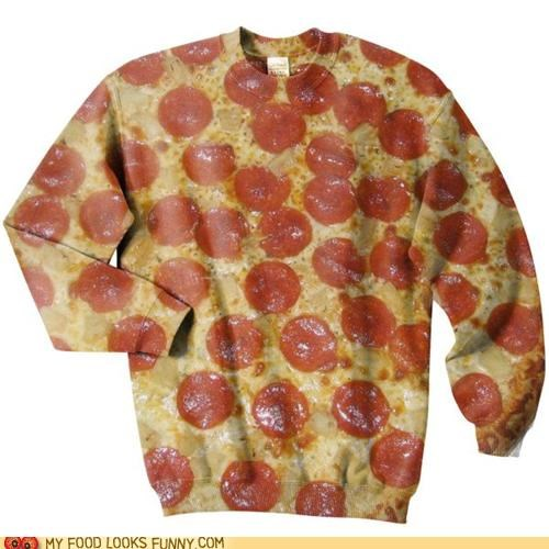 cheese greasy pepperoni pizza print shirt - 4966962944