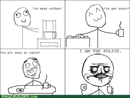 coffee cop donuts me gusta police Rage Comics - 4967014656
