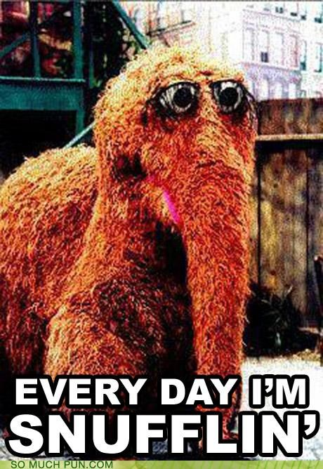 everyday-im-hustlin Hall of Fame literalism mr-snuffleupagus parody puppet rick ross Sesame Street song title