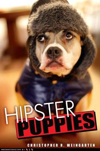 book,Hipster Puppies,mixed breed,pitbull