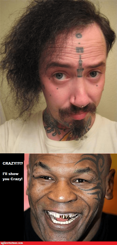 face tattoos,insane,neck tattoos,nose piercings