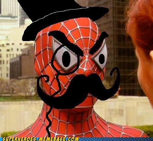 ms paint mustache Spider-Man The Movies