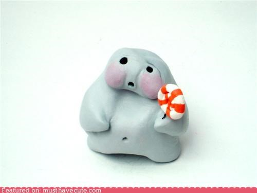 glutton lollipop Sad sculpture toy - 4967607552
