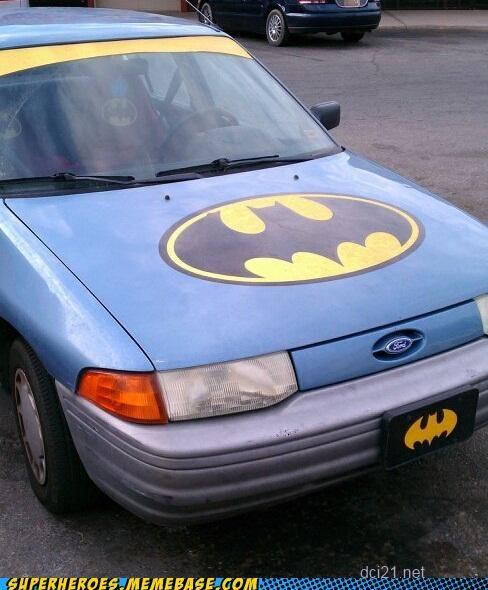 batman batmobile crappy car ford focus Random Heroics - 4967775232