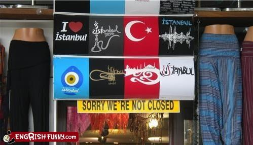 closed fashion sign store