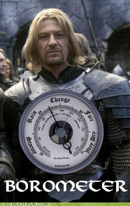 barometer Boromir j-r-r-tolkien literalism Lord of the Rings quote similar sounding the two towers - 4968201216