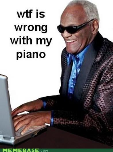 black people computer keyboard Memes piano ray charles stevie wonder - 4968215808